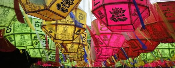 Colourful Buddhist Lanterns