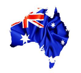 Karte Australien