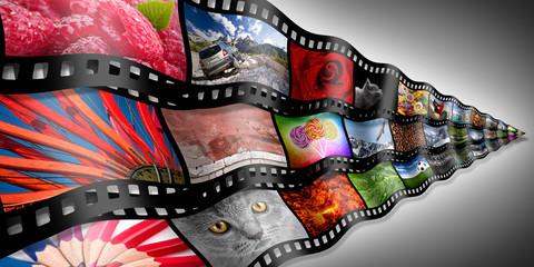 photo filmstrip concept