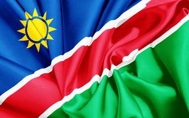 Fahne von Namibia