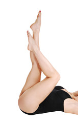 Woman's bare legs.