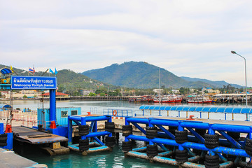 sea port of seatran ferry terminal a pier koh samui,surat thani