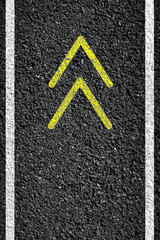 Road sign and arrow of illustration