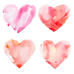 Watercolour heart isolated on white background