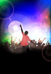 Dancing people. Music event. Vector