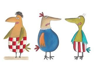 Cartoon birds