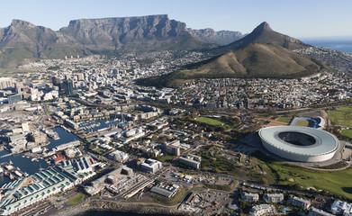 Staande foto Zuid Afrika Table Mountain - view across Cape Town