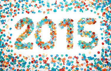 Carnival 2015 date confetti isolated