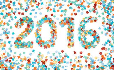 Carnival 2016 colorful confetti isolated