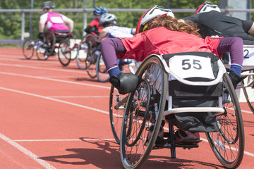wheelchair race stadiium