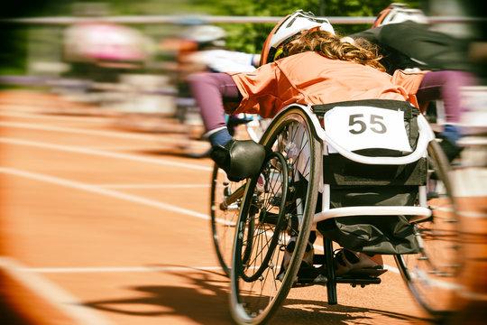 wheelchair race motion blur