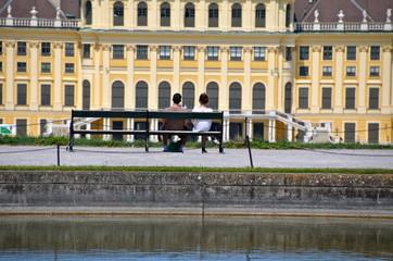 Love in Schönbrunn park in Vienna, Austria