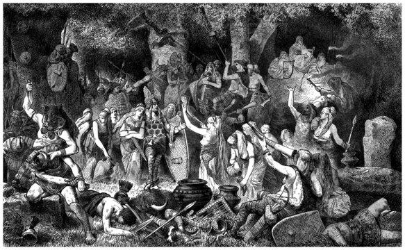 Victory Celebration : ancient Germans - Antiquity