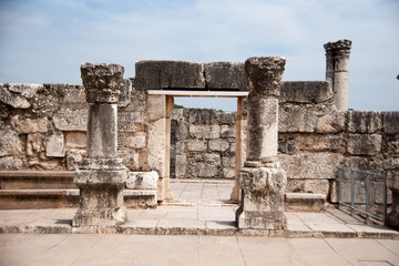 Churches and ruins in Capernaum