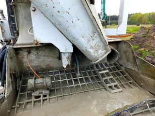 rear self-propelled concrete mixer