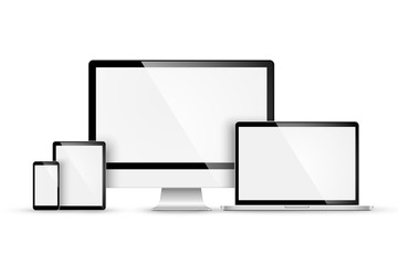 Obraz Set of modern devices. Vector - fototapety do salonu