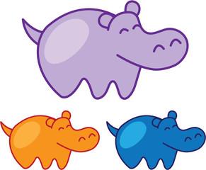 Hippo Vector Sketch