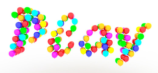 Play text of balloons