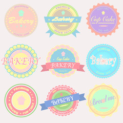 Vector bakery Badges And Labels