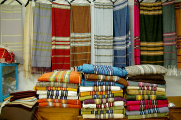 Fabric market in the Medina of Tunis - Tunisia