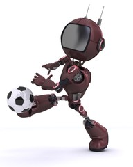 Canvas Prints Fairytale World Android playing football