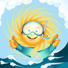 diving sun