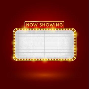 retro cinema sign