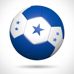 3D soccer ball with Greece flag element and original colors