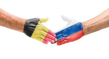 Handshake Belgien und Russland