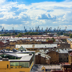 Petersburg, Russia. View of the city from St. Isaac's Cathedral