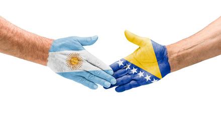 Handshake Argentinien und Bosnien-Herzegowina