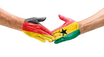 Handshake Deutschland und Ghana
