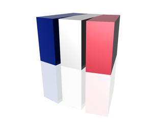 3D flag - France