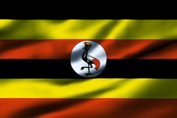 Waving flag, design 1 - Uganda