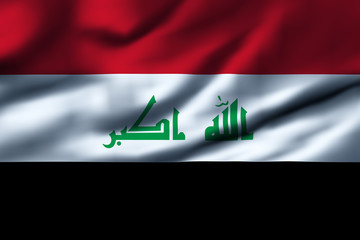 Waving flag, design 1 - Iraq