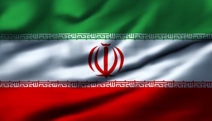 Waving flag, design 1 - Iran