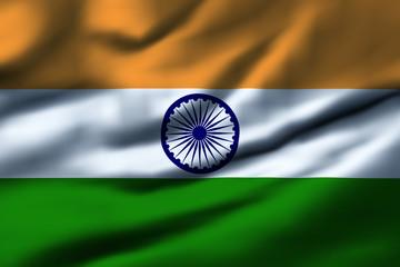 Waving flag, design 1 - India