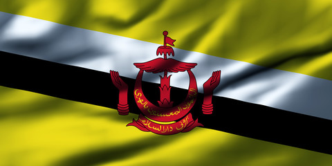 Waving flag, design 1 - Brunei