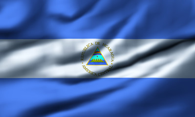 Waving flag, design 1 - Nicaragua