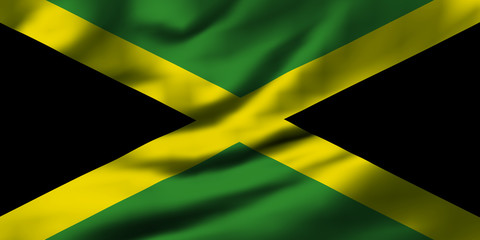 Waving flag, design 1 - Jamaica