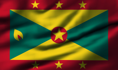 Waving flag, design 1 - Grenada
