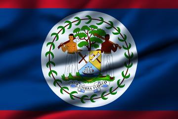 Waving flag, design 1 - Belize