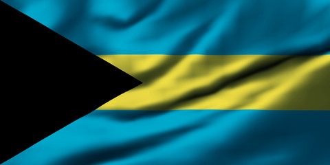 Waving flag, design 1 - Bahamas