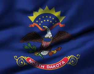 Waving flag, design 1 - North Dakota