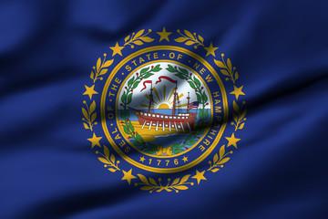 Waving flag, design 1 - New Hampshire
