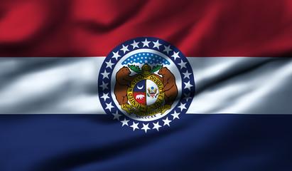 Waving flag, design 1 - Missouri