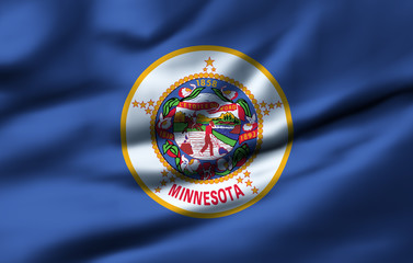 Waving flag, design 1 - Minnesota