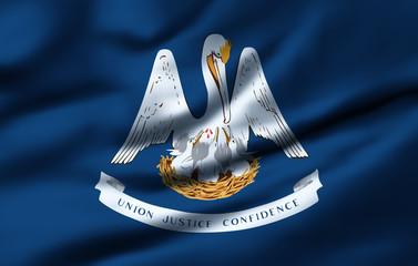 Waving flag, design 1 - Louisiana