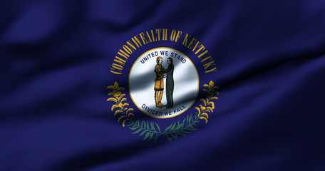 Waving flag, design 1 - Kentucky