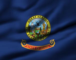 Waving flag, design 1 - Idaho